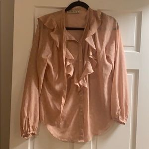 Abercrombie & Fitch peach blouse